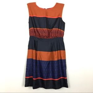 Ann Taylor LOFT Mosaic striped sleeveless dress 4